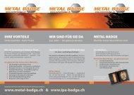 im Internet o. telefonisch • Prompter Service in vier ... - Metal Badge