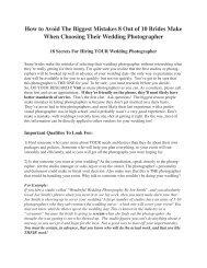 18 Secrets of Wedding Photography - Frank Donnino - Home