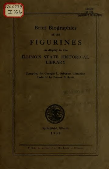 Brief biographies of the figurines on display in ... - University Library