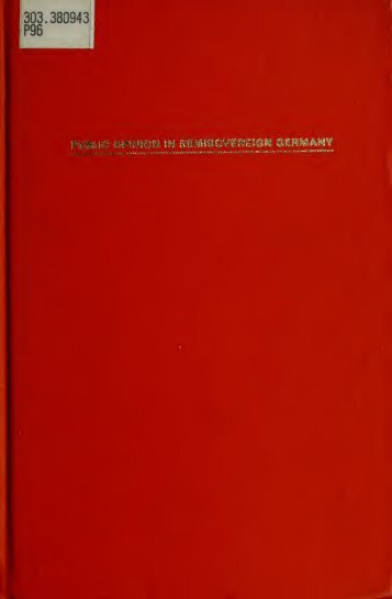 Public opinion in semisovereign Germany : the ... - University Library