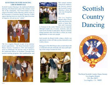 Scottish Country Dancing - RSCDS Los Angeles