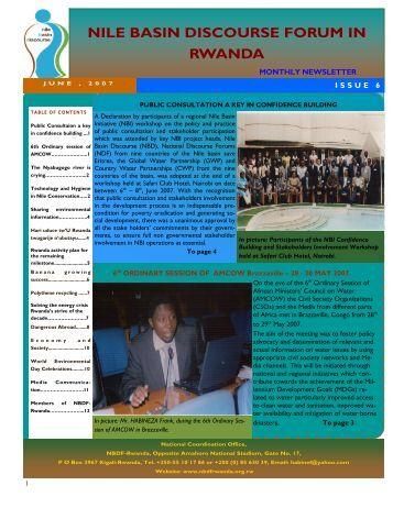 Read NBDF Newsletter Issue N. 6 - NBDF Rwanda