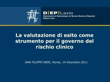La valutazione di esito come strumento per il governo del rischio ...