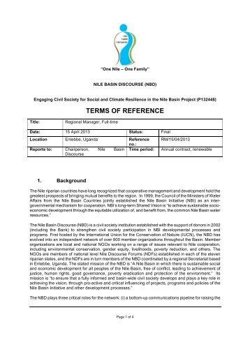 ToRs _ Regional Manager -Final.pdf - NBDF Rwanda