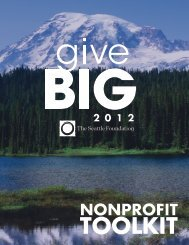 GiveBIG 2012 Nonprofit Toolkit - The Seattle Foundation