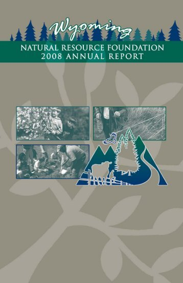 2007-08 Annual Report 3 - Wyoming Association of Conservation ...