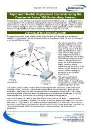 AN004 Rapid and Flexible Deployment Scenarios ... - Omnisense