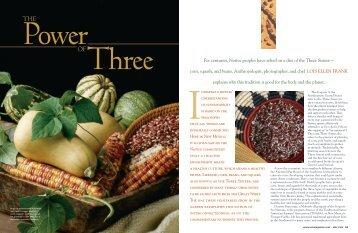 The Power of Three - Red Mesa Cuisine, LLC.