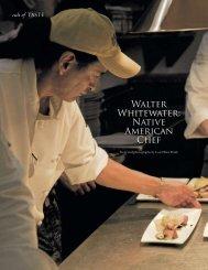 Walter Whitewater: Native American Chef - Red Mesa Cuisine, LLC.