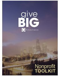 GiveBIG Nonprofit Toolkit - The Seattle Foundation