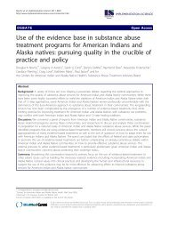 Use of the evidence base in substance abuse treatment programs ...