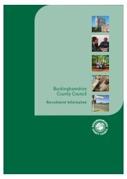 Buckinghamshire County Council pack