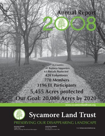 2008 Annual Report - Sycamore Land Trust