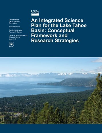 An Integrated Science Plan for the Lake Tahoe Basin: Conceptual ...