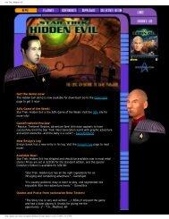 Star Trek: Hidden Evil - Index of