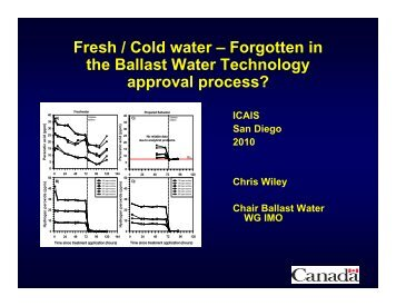 Neglected in Shipboard Ballast Water Treatment Testing and ... - ICAIS