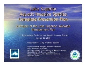 Lake Superior Aquatic Invasive Species Complete ... - ICAIS