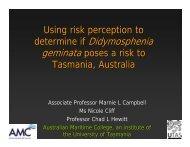 Using risk perception to determine if Didymosphenia geminata - ICAIS