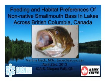 Impacts and Interactions of the Invasive Smallmouth Bass - ICAIS
