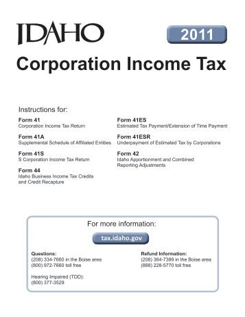 Instructions - Corporation S-Corporation Income Tax