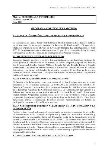 Derecho - Carrera de Ciencias de la Comunicación - Universidad ...