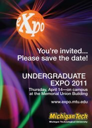 UNDERGRADUATE EXPO 2011 You're invited... Please save the ...