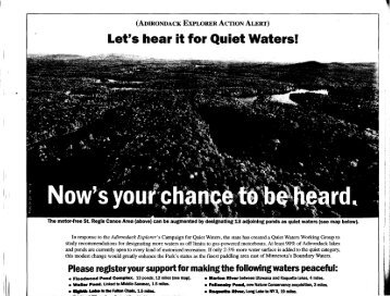 Let's hear it for Quiet Waters! - Eaglelake1.org