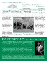 Spring/Summer 2012 Newsletter - Andrew Carnegie Free Library ...