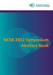 NCSB 2012 Symposium Abstract Book