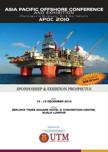 asia pacific offshore conference - space seminar main page