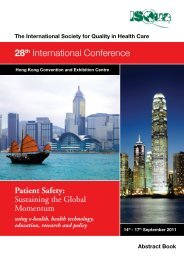 Hong Kong Abstract Book Part 1 - ISQua