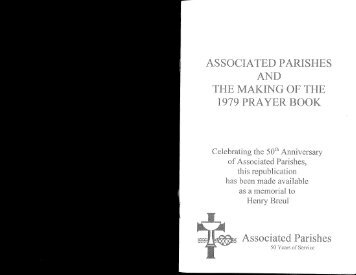 1979 Book of Common Prayer - Associated Parishes for Liturgy and ...