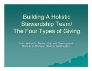 Building a Holistic Stewardship Team/The Four Types of Giving (PDF)