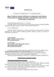 Projekta mērķi un paredzētie rezultāti - RCK LV