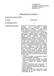 PROFESIJAS STANDARTA FORMÂTS - NIID.LV