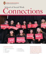 Alumni Newsletter, Fall 2012 - The School of Social Work