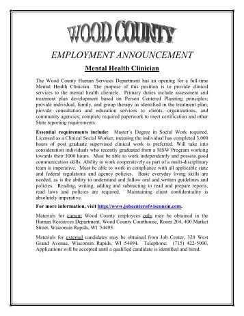 Mental Health Clinician - 04-12.pdf - The School of Social Work
