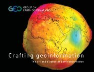 Crafting geoinformation - Group on Earth Observations