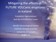 Mitigating the effects of FUTURE VOLCanic eruptions in Iceland
