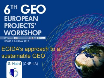 TOP-DOWN tasks Support to GEO Task ID-03 - Group on Earth ...