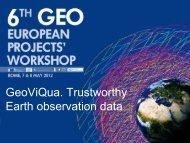 GeoViQua - Group on Earth Observations