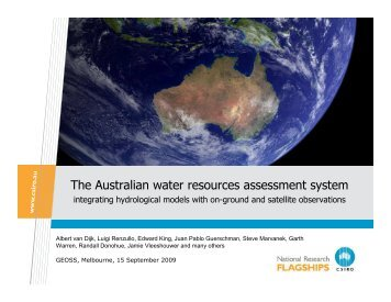 The Australian water resources assessment system - Group on Earth ...