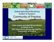 Agriculture CoP Presentation - Group on Earth Observations