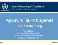 State of the Science 4. Ag 0702. Seasonal to Annual Agricultural ...