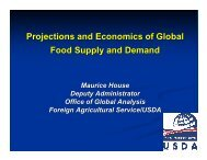 Projections and Economics of Global Food Supply and Demand