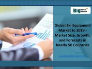 Global Ski Equipment Market Insights to 2019 in 50 Countries