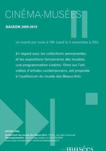 Page 1 : < ; cinéma-musées saison 2009-2010 un mardi par mois à ...