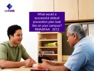 What would a successful default prevention plan look ... - RMASFAA