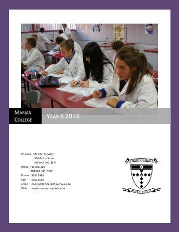 Year 8 Handbook - Marian College