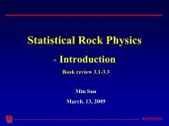 Review on Statistical Rock Physics(1) - Rpl.uh.edu